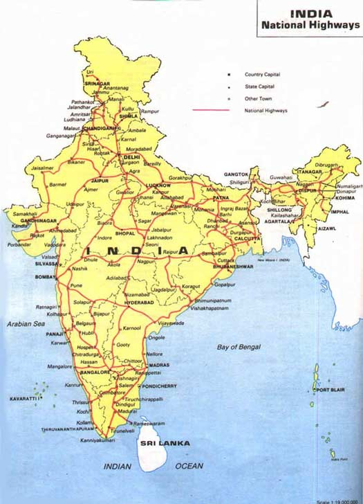 Indian national highway map, hillstations, beaches ... on india political map 2014, india political parties, india voting,